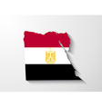 egypt map with shadow effect vector image vector image
