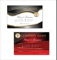 elegant business card design template 05 vector image vector image