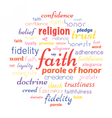 faith tag cloud vector image
