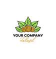 falafel logo green leaves appetite vegetarian vector image vector image