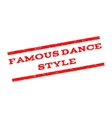 Famous Dance Style Watermark Stamp