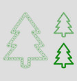 fir-tree mesh network model and triangle vector image vector image
