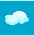 flat icon of light blue cloud flying in sky vector image vector image