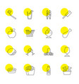 fresh icons vector image vector image