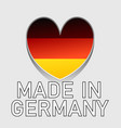 german national colored heart with text made in vector image vector image
