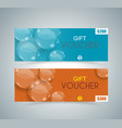 gift voucher template with transparent bubbles vector image vector image