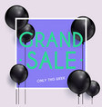 grand sale banner can be used for website vector image vector image