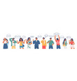 group people saying excellent word in different vector image vector image