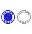 Grunge iceland textured stamps