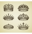 Hand-drawn vintage imperial crown in retro style vector image