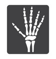 hand x-ray glyph icon medicine and healthcare vector image