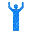 Hands Up Pose Grainy Texture Icon vector image vector image