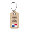 hang tag made in panama with flag icon isolated on vector image vector image