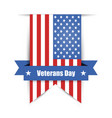 hanging ribbon on the day of america39s veterans vector image
