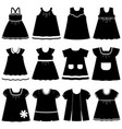 icons different childrens dresses for baby vector image vector image