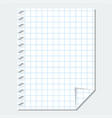 isolated blank sheet paper vector image