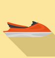 jet ski icon flat style vector image vector image