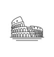 line art logo of the city of rome italy colosseum vector image vector image
