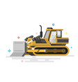 loader excavator front load washing machine vector image