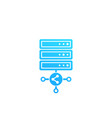 mainframe server shared hosting icon vector image vector image