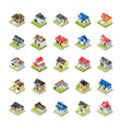 modern buildings icons vector image vector image