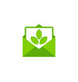 nature mail logo icon design vector image vector image