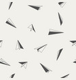paper planes seamless pattern vector image