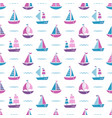 pattern with boats and waves vector image vector image
