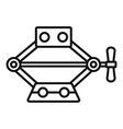 power jack-screw icon outline style vector image vector image
