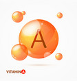 realistic detailed 3d vitamin a background card vector image vector image