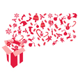 red christmas gift vector image vector image
