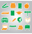 school stickers icon set eps10 vector image