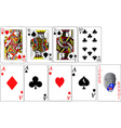 set playing cards vs vector image