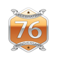 Seventy six years anniversary celebration silver vector image vector image