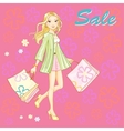shopping girl young sexy vector image vector image