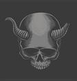 skull horned devil vector image