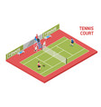 sport tennis court isometric vector image