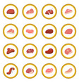 steak icon circle vector image vector image