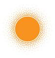 Sun icon halftone sunny orange circle