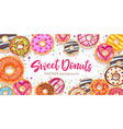sweet donutscolorful glazed pastries background vector image