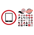 Tablet Pad Flat Icon with Bonus vector image