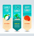 travel and vacation banners vector image vector image