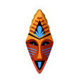 tribal ceremonial mask isolated on white vector image