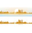 view modern daytime city brightening vector image