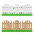 wooden fence with gate vector image vector image