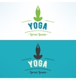 yoga lotus asana logo Meditation and vector image