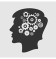 Head and Gears vector image