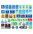 handicap labels and signs disabled people icons vector image
