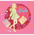 Shopping girl young sexy vector image