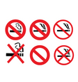 2008185 no smoking sign 3 vector image vector image